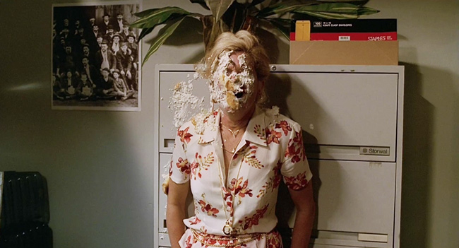 Sopranos lady with Pie in her face